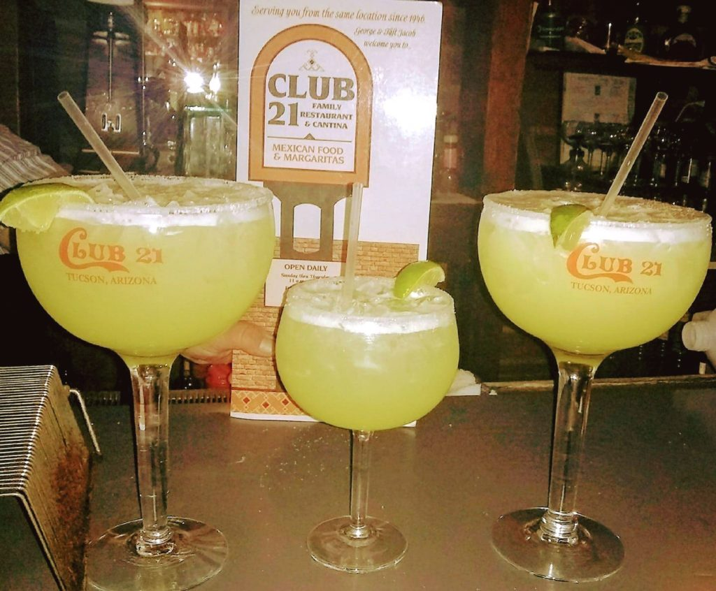 Margaritas (Photo courtesy of Club 21 Mexican Restaurant on Facebook)